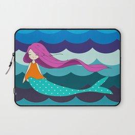 Mermaid in Blue Laptop Sleeve