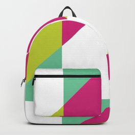 Hot Pink and Neon Chartreuse Color Block Backpack
