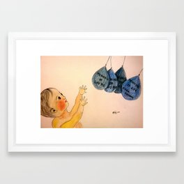 Trying to grasp (burst) the meaning of life Framed Art Print