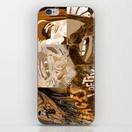 """Faces - Petty"" by Blackard, Boehm, Fiche, Livengood, & McCarthy - Monochrome iPhone Skin"
