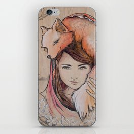 Safe in My Red Riding Hood, Balsa iPhone Skin