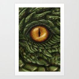the green dragon Art Print