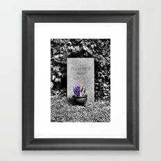 The Grave of Douglas Adams Framed Art Print