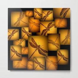 glowing dragonflies Metal Print
