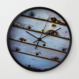 Old White Wooden Boat Wall Clock