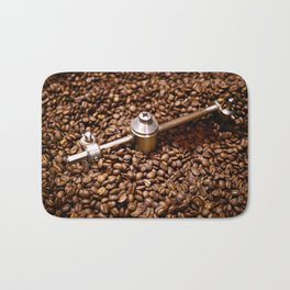 Freshly roasted coffee beans Bath Mat