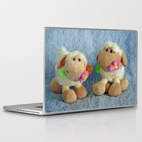 silence of the lambs Laptop & iPad Skins featuring Little Lambs by Frankie Cat