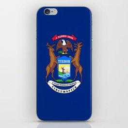 flag michigan,america,usa,great lakes,detroit,Michigander,yooper,Lansing,winter wonderland,Wolverine iPhone Skin