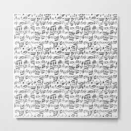 Music Pattern | Note Instrument Musical Listening Metal Print