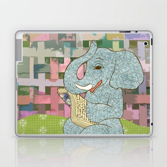 Elephant Reading Laptop & iPad Skin