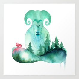 Mountain Zen Art Print