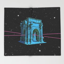time travel Throw Blanket