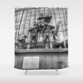 Rugby League Legends statue Wembley stadium Shower Curtain