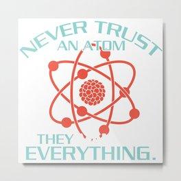 physics physicist gift atom body time Metal Print