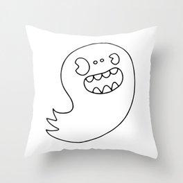 Ghost Boy Throw Pillow