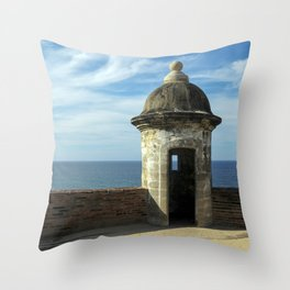 Puerto Rico Fort Throw Pillow