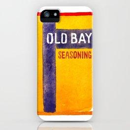 Old Bay Tin Baltimore Crab Watercolor iPhone Case