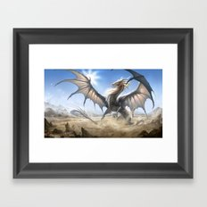 White Dragon Framed Art Print
