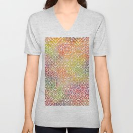 DP050-7 Colorful Moroccan pattern Unisex V-Neck