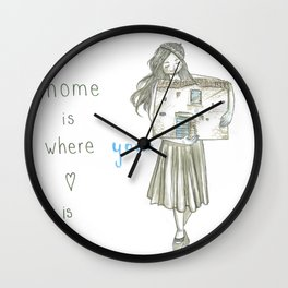 Home is where your heart is Wall Clock
