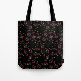 Minimalist Retro Floral Bloom Tote Bag