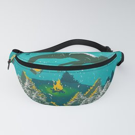 FLOATING FOREST BLUE Fanny Pack