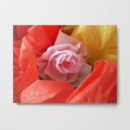 Paper handmade flowers Metal Print