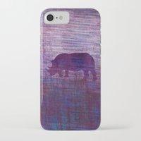 rhino iPhone & iPod Cases featuring Rhino by Inmyfantasia