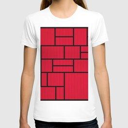 Mondrian Bauhaus Pattern #10 T-shirt