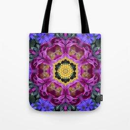 Floral finery - vivid kaleidoscope 20170321_135334 e k1 Tote Bag