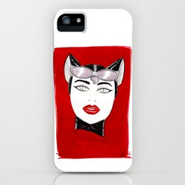 80's Fashion Catwoman iPhone Case