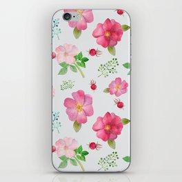 Rosehip Spring Garden Floral Pattern iPhone Skin