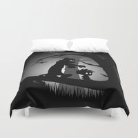 hobbes Duvet Covers featuring A Wrong Turn by Perdita