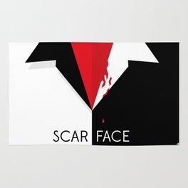 Scarface Minimalist Movie Poster Rug