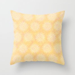 sunrise lace Throw Pillow