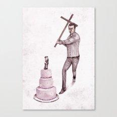 Anti Gay Canvas Print