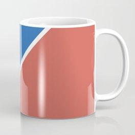 Fire Red & Mild Blue - oblique Coffee Mug