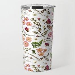 Boho Pink Rose Garden Travel Mug