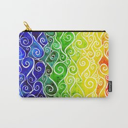 Rainbow Water Waves Carry-All Pouch