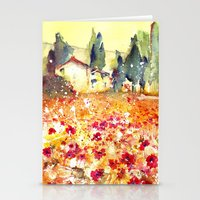poppies Stationery Cards featuring Poppies by Michele Petri