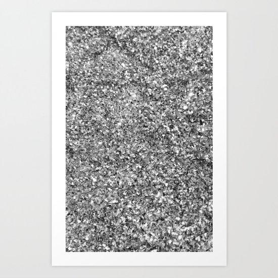 SILVER GLITTER Art Print