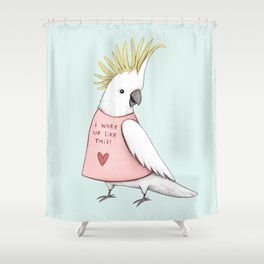 Pretty Cockatoo Shower Curtain