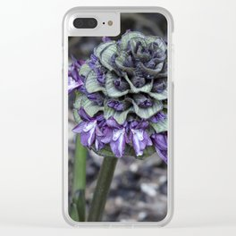 Zebra Flower Clear iPhone Case
