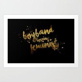 Boyband Loving Feminist Art Print