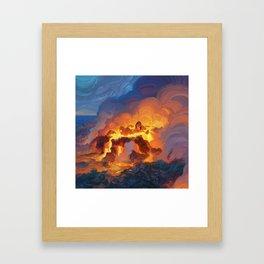 Hot Bath Framed Art Print