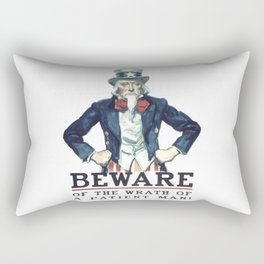 Beware Of The Wrath Of A Patient Man Uncle Sam Rectangular Pillow