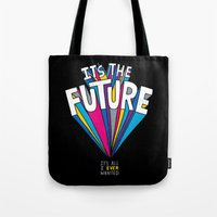future Tote Bags featuring The Future by Chris Piascik