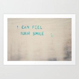 I can feel your smile graffiti ... Art Print