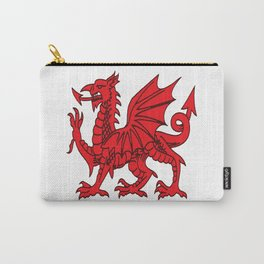 The Red Dragon or Y Ddraig Goch Isolated Carry-All Pouch