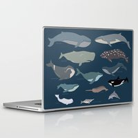 whales Laptop & iPad Skins featuring whales by Eva Plaputta